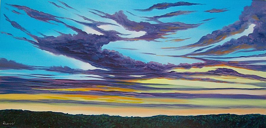 Skyscapes Painting - Atardecer by Enrique Alcaraz