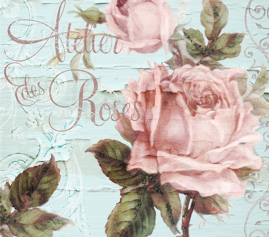 Atelier des roses painting by mindy sommers for Atelier de decoration