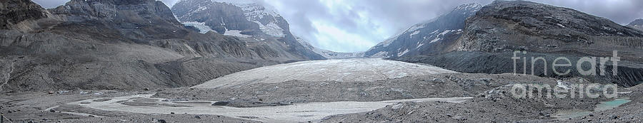 Panorama Of The Athabasca Glacier In Canada Photograph