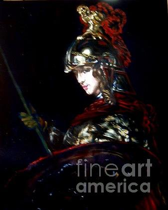 Classical Painting Painting - Athena After Rembrandt by Hidemi
