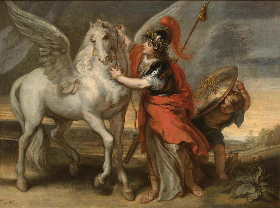 Athena And Pegasus Painting by Theodoor van Thulden