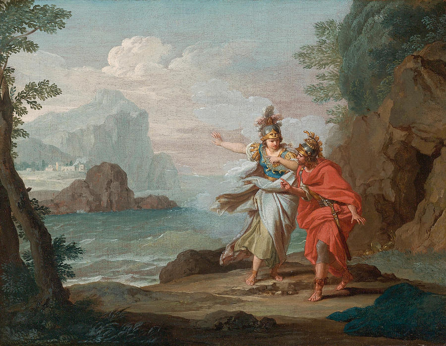 Athena Appearing To Odysseus To Reveal The Island Of ...