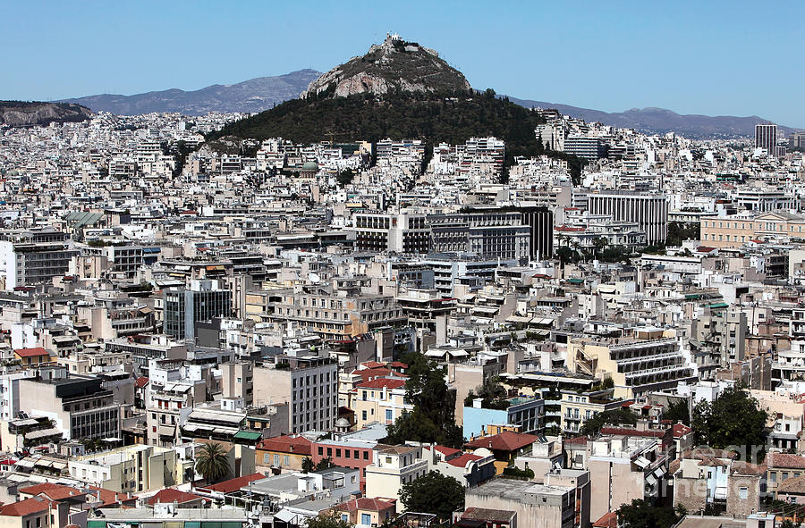 Athens City View Photograph - Athens City View by John Rizzuto