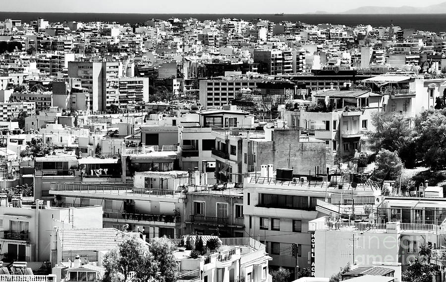 Buildings Photograph - Athens Cityscape I by John Rizzuto