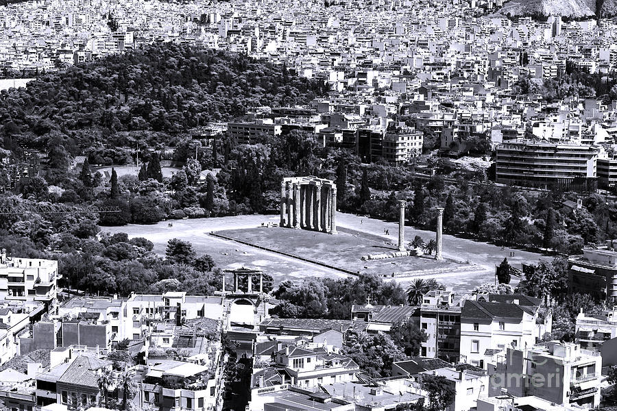 Athens Cityscape Iv Photograph - Athens Cityscape Iv by John Rizzuto