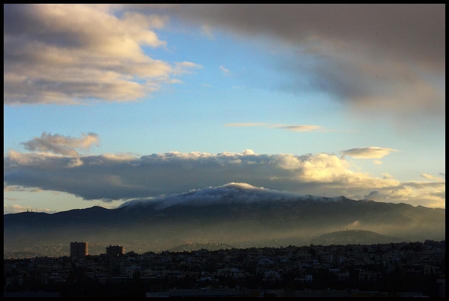 Athens Photograph - Athens Sunrise by Julia Bridget Hayes