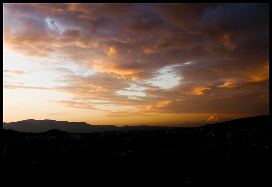 Sunset Photograph - Athens Sunset by Julia Bridget Hayes
