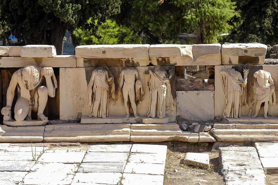 Athens theatre of dionysus athens theatre of dionysus relief