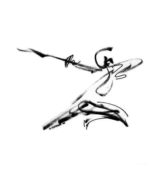 Athlete Drawing - Athlete by Sam Chinkes