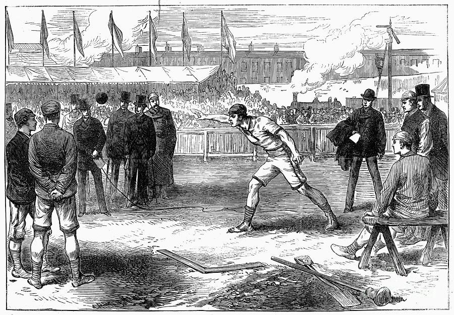 1875 Photograph - Athletics: Shot Put, 1875 by Granger