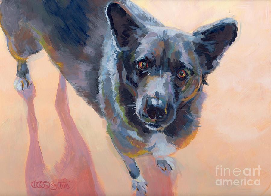 Mixed Breed Painting - Atira by Kimberly Santini