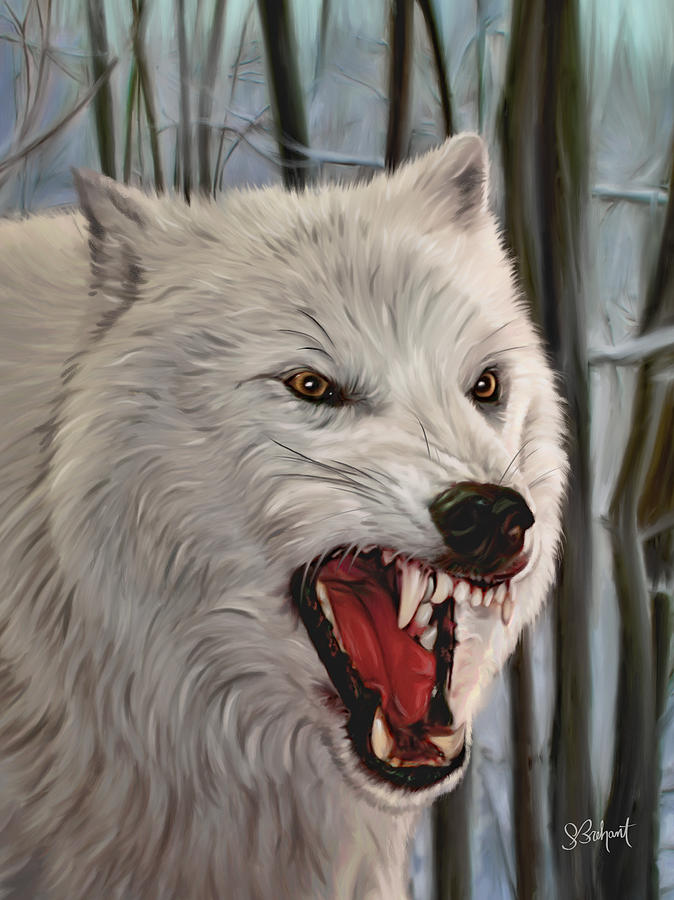Atka Arctic Grey Wolf by Sue  Brehant