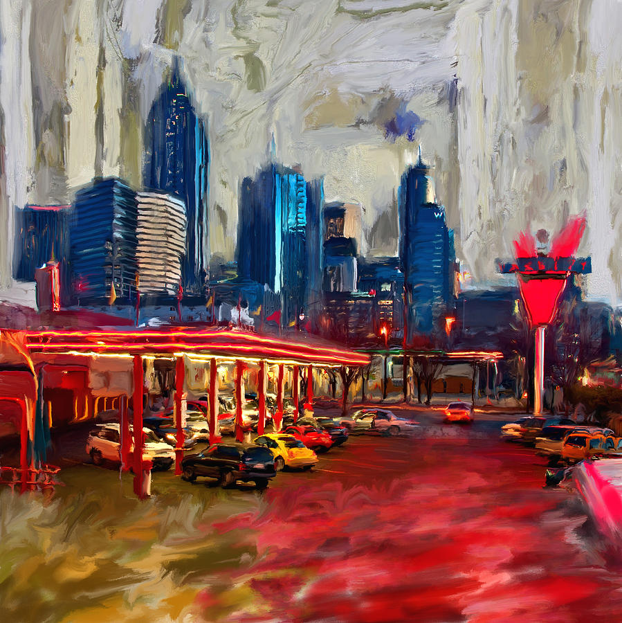 Atlanta skyline 231 1 painting by mawra tahreem for Atlanta mural artist