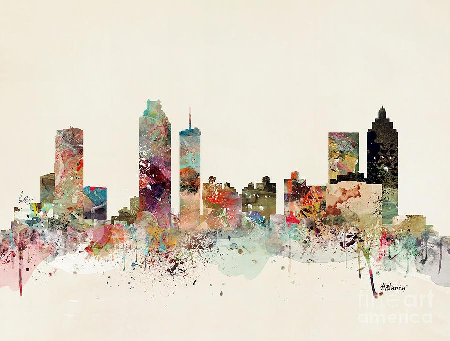 Atlanta Skyline Painting By Bri Buckley