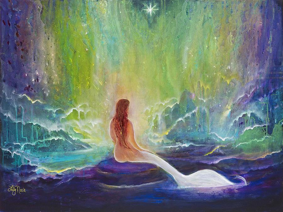 Mermaid Painting - Atlantian Vision Mermaid by Lily Nava