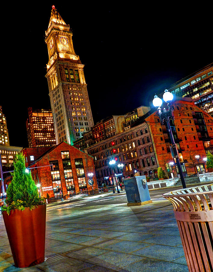 Boston Photograph - Atlantic Avenue and the Customs House Tower by Jeff Stallard