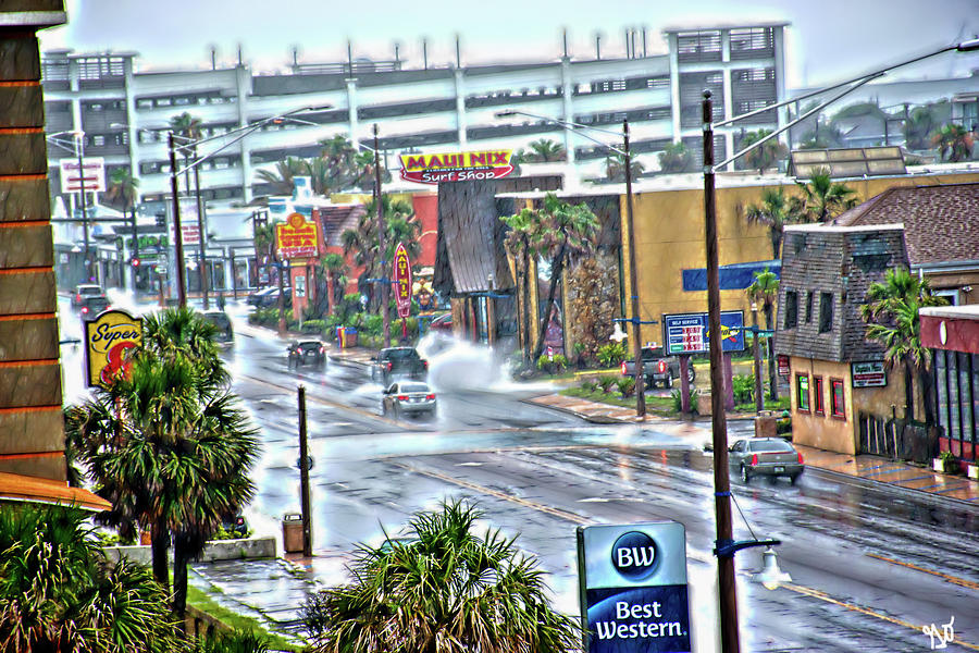 Atlantic Avenue Street Flooding in Daytona Beach by Gina O'Brien