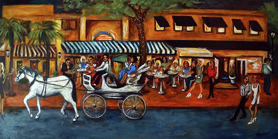 Horse & Buggy Painting - Atlantic Avenue by Valerie Vescovi