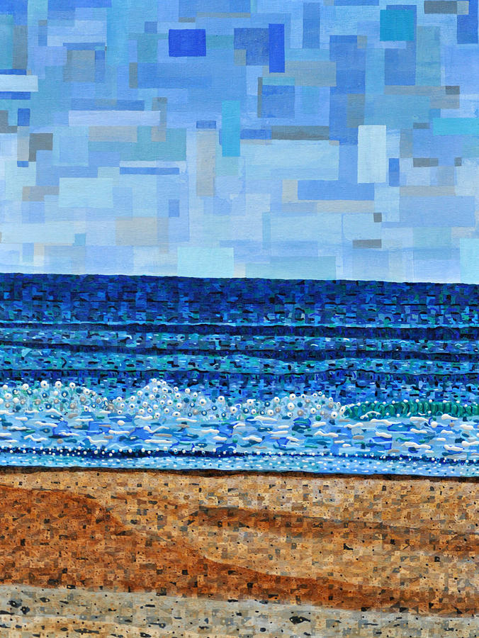 Atlantic Beach In July Painting by Micah Mullen