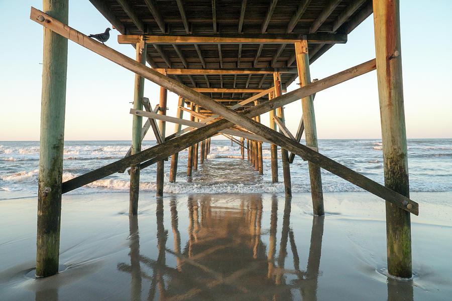 Landscape Digital Art - Atlantic Beach NC Pier by Arthur English