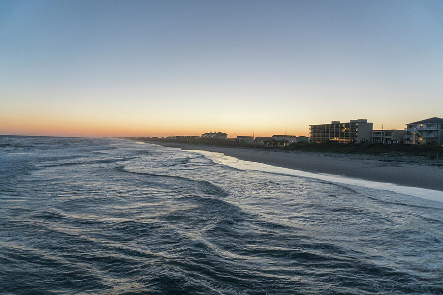 Landscape Digital Art - Atlantic Beach Nc Twilight by Arthur English