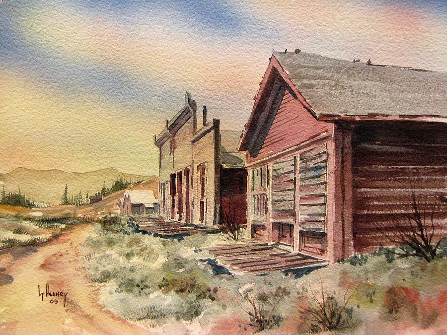 Ghost Town Painting - Atlantic City Ghost Town Wyoming by Kevin Heaney