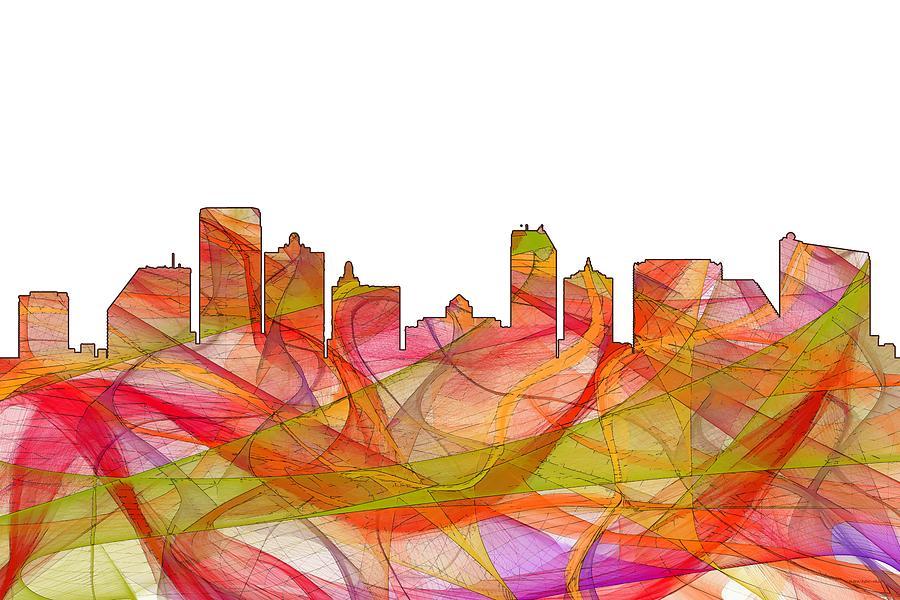 Skyline Digital Art - Atlantic City Nj by Marlene Watson