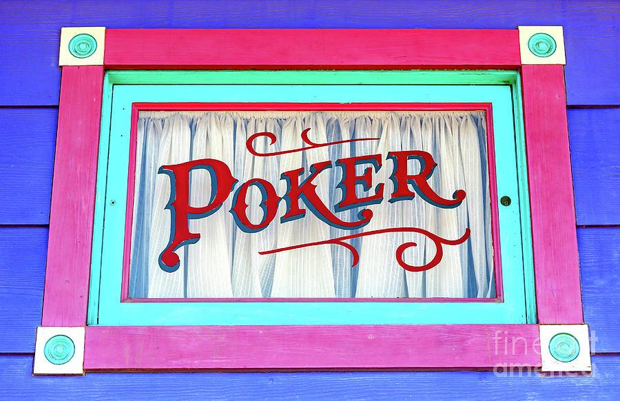 Poker Photograph - Atlantic City Poker Window by John Rizzuto