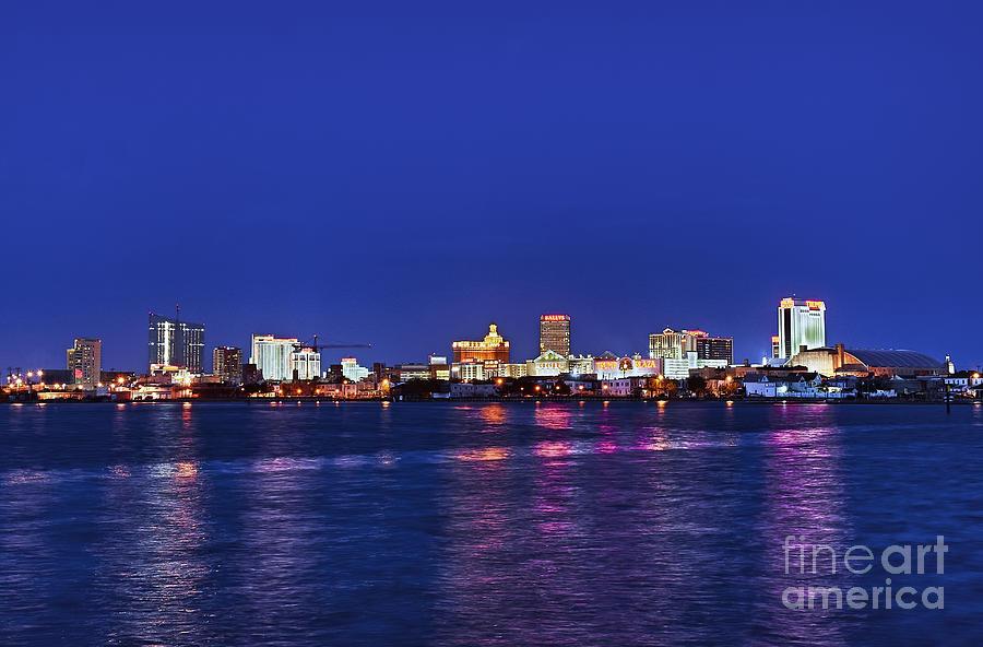 Atlantic City Photograph - Atlantic City Skyline. by John Greim