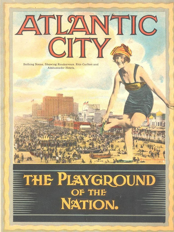 Atlantic City Pastel - Atlantic City The Playground Of The Nation by NewJerseyAlmanac