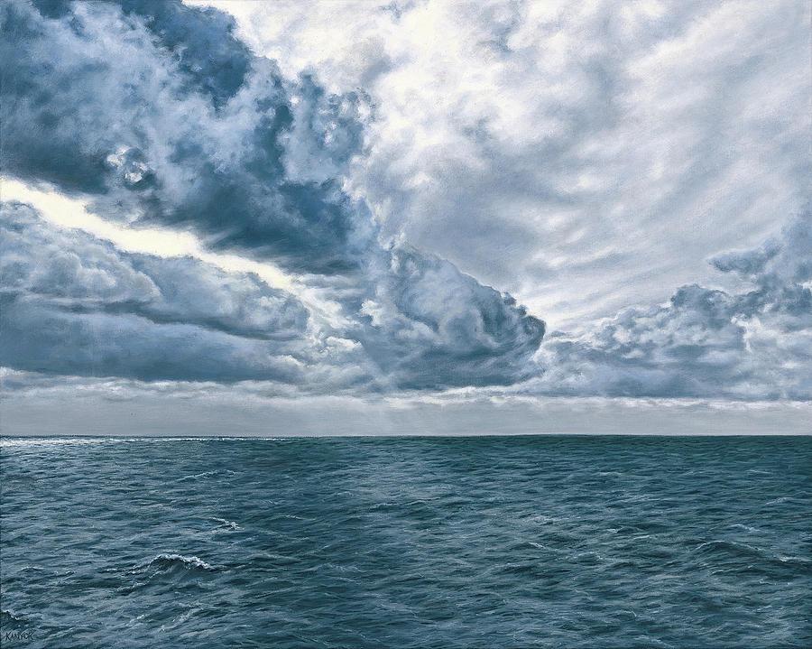 Seascape Painting - Atlantic by Darrel Kanyok