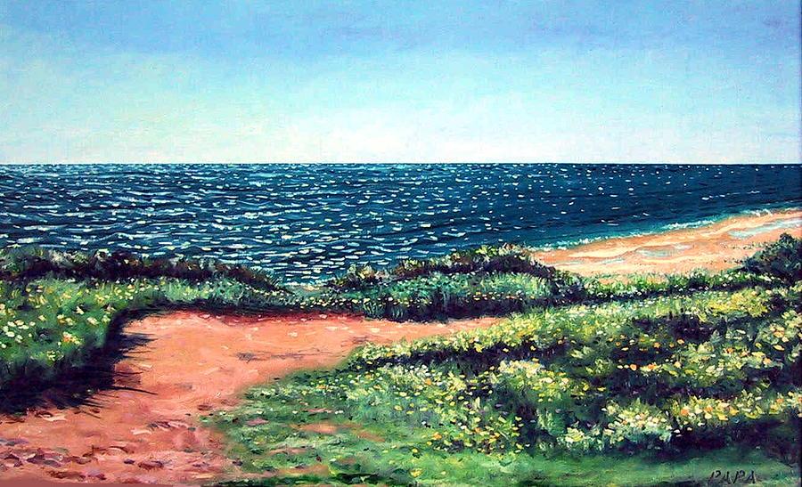 Ocean Painting - Atlantic Overlook by Ralph Papa