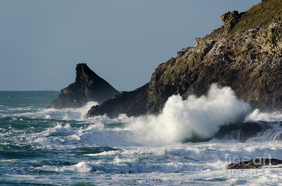 Padstow Photograph - Atlantic Splash by Steev Stamford