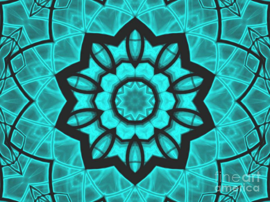 Kaleidoscope Mixed Media - Atlantis Stained Glass by Roxy Riou