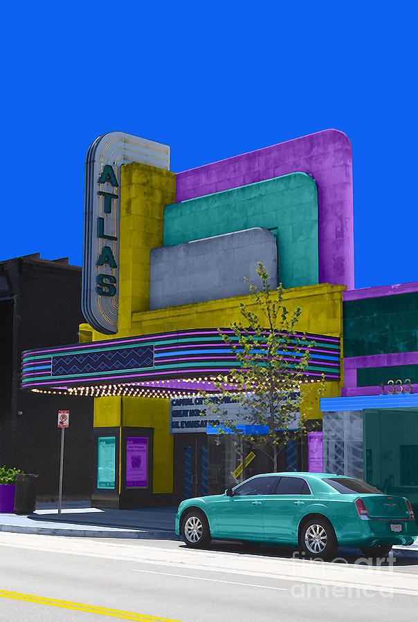 Atlas Photograph - Atlas Theatre by Jost Houk