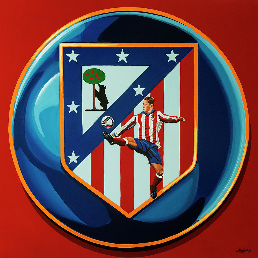 Atletico Madrid Painting - Atletico Madrid Painting by Paul Meijering