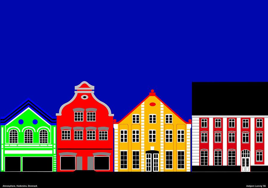 Atmosphere Digital Art - Atmosphere Haderslev Denmark by Asbjorn Lonvig