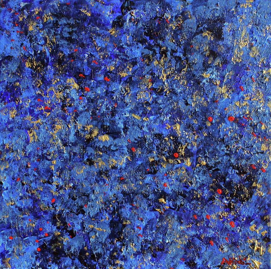 Blue Painting - Atmospheric Blue 201750 by Alyse Radenovic