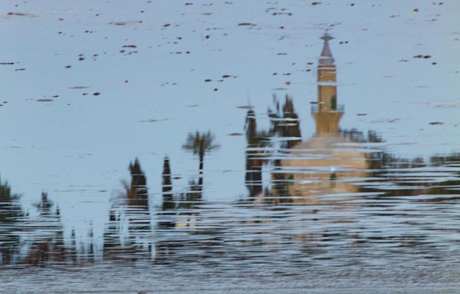 Cyprus Photograph - Atmospheric Hala Sultan Tekke Reflection At Larnaca Salt Lake by Iordanis Pallikaras