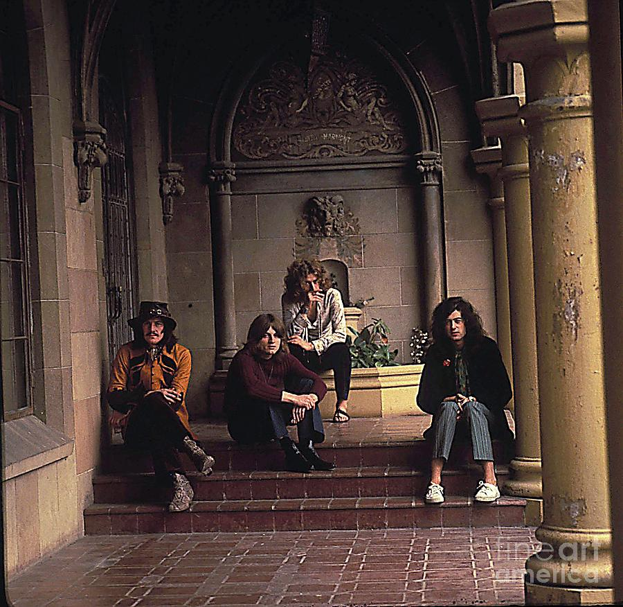 Atmospheric Portrait Of Led Zeppelin At Chateau Marmont