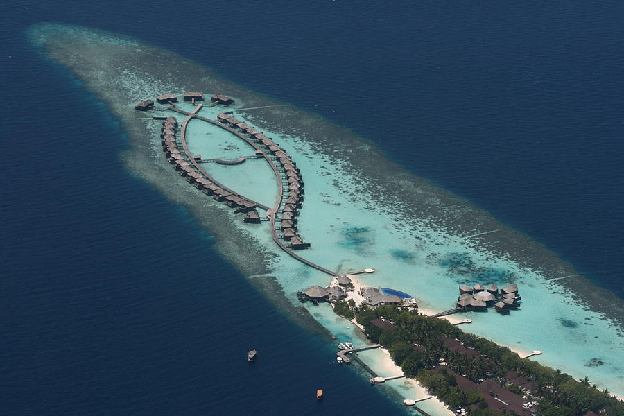 The Maldives Photograph - Atolls From The Air by Andrei Fried
