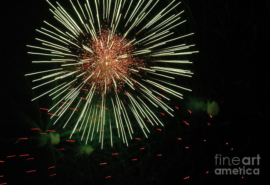 Fireworks Photograph - Atom Burst by Norman  Andrus