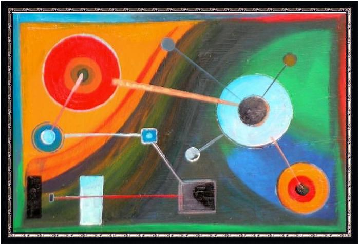 Abstract Painting - Atomic Connection by Jack Mancino