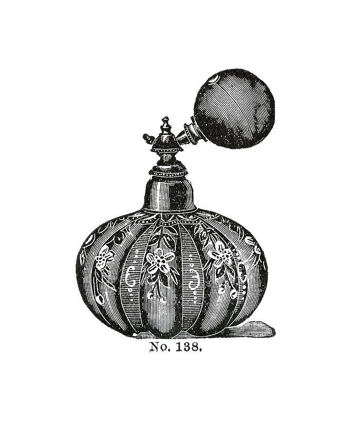Vintage Bottle Digital Art - Atomizer by ReInVintaged