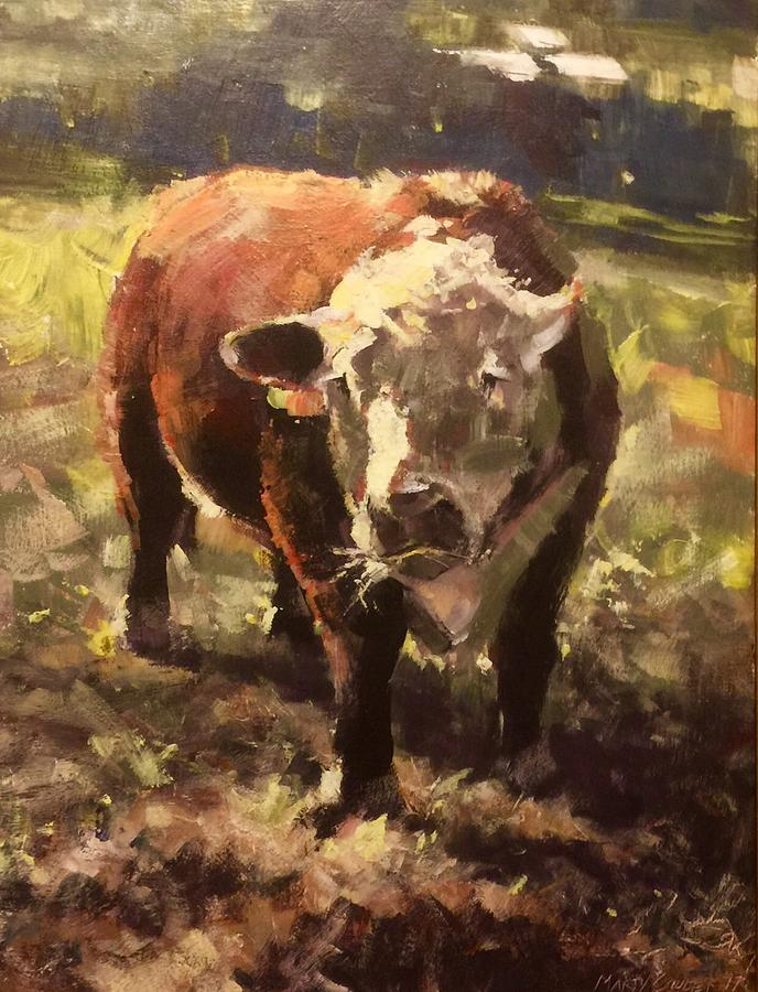 Animals Painting - Atsa Lotta Bull by Marty Coulter