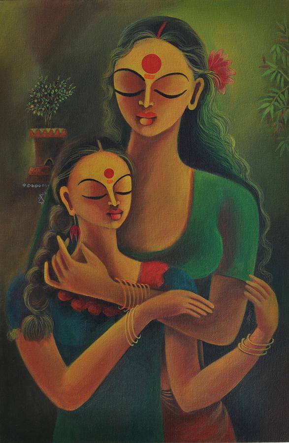 Figuration Painting - Attachment by Manisha Raju