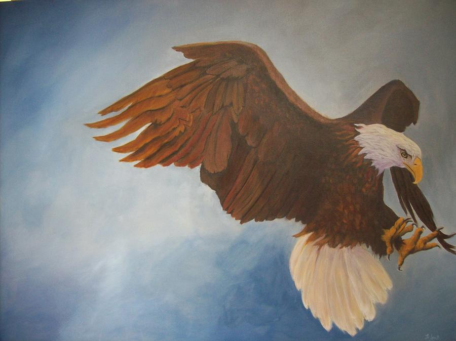 Bald Eagle Painting - Attack Life by Bill Werle