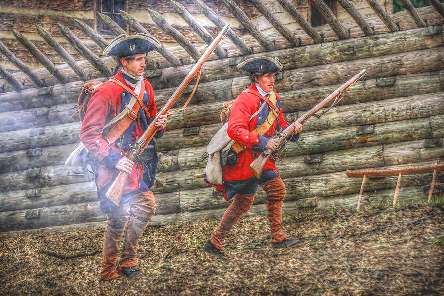 Uniform Digital Art - Attack On Fort Ligoner French And Indian War by Randy Steele