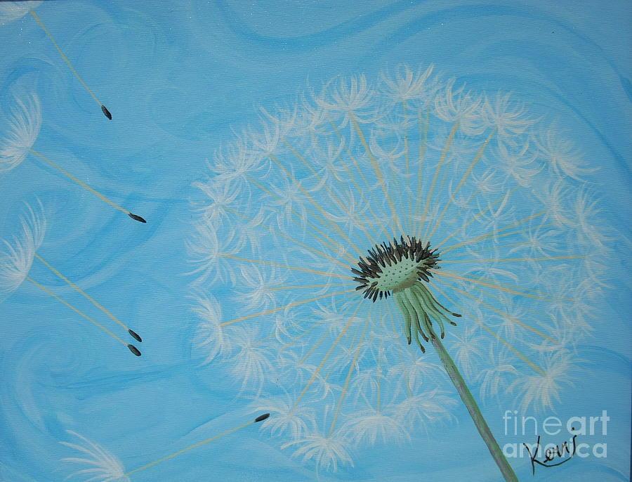 Dandelion Painting - Attack On The Garden by Kerri Ertman