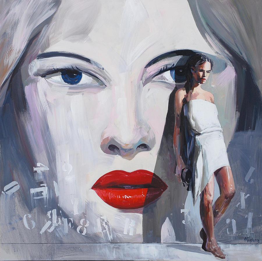 Female Figure Painting - Attesa by Antonio Tamburro